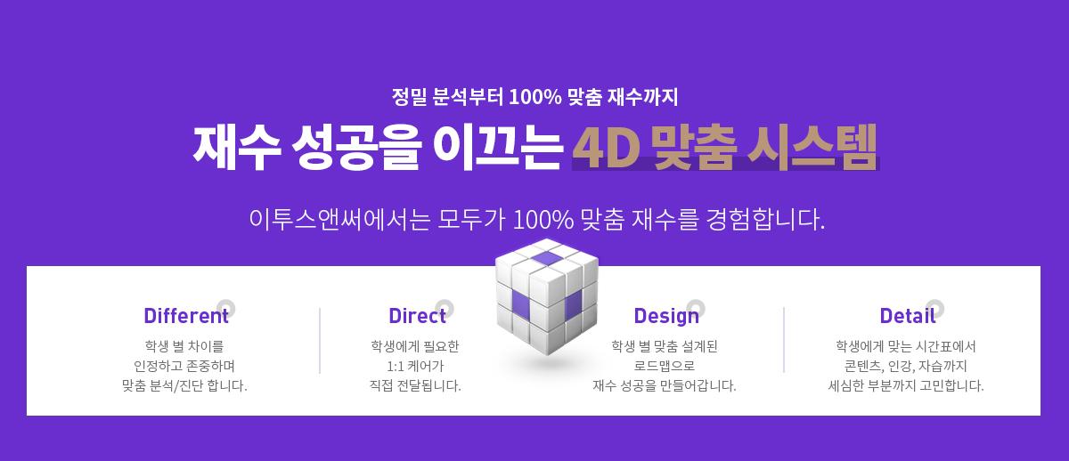 재수 성공을 이끄는 4D 맞춤 시스템