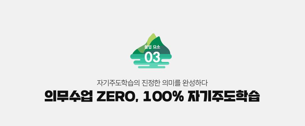 의무수업 ZERO, 100% 자율선택수업제