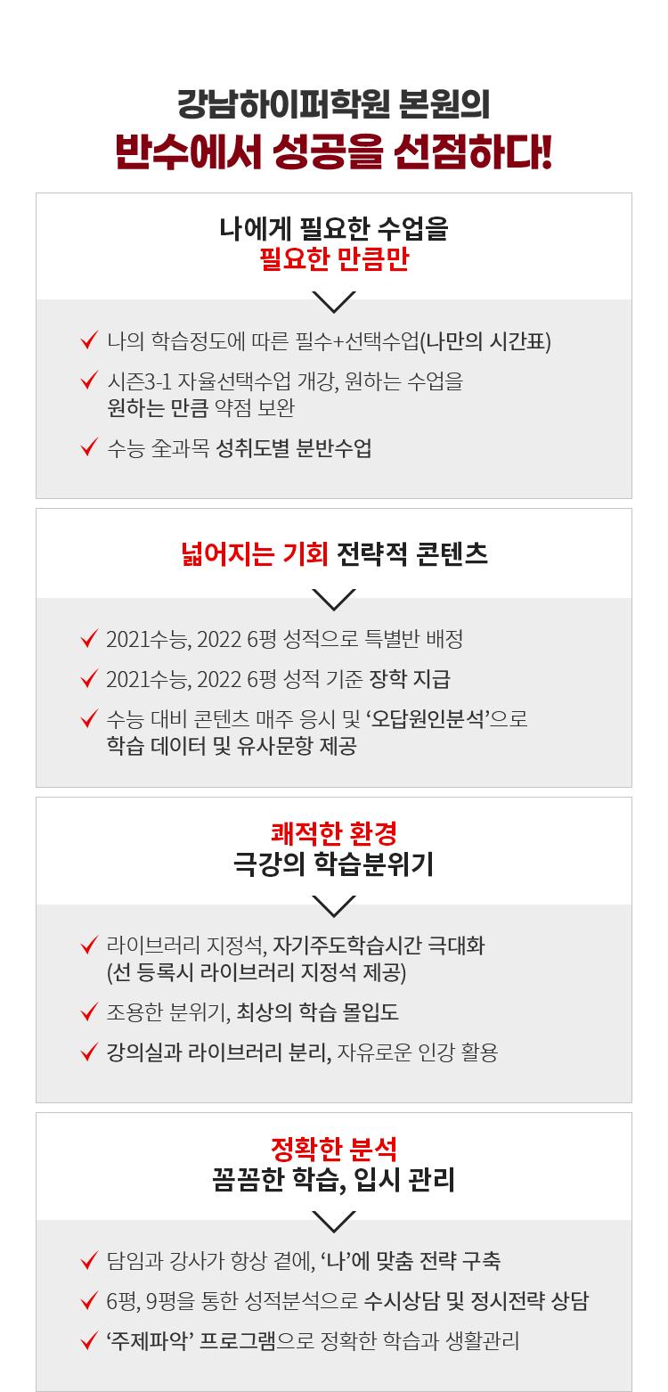 강남하이퍼학원 본원의 반수에서 성공을 선점하다!