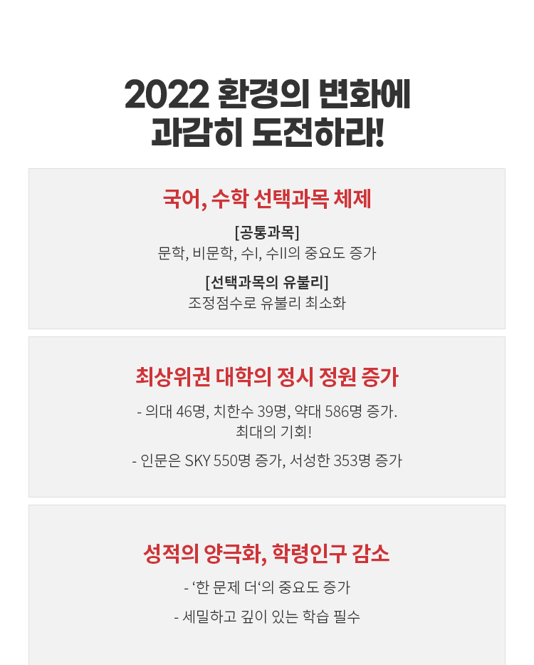 2022 환경의 변화에 과감히 도전하라!