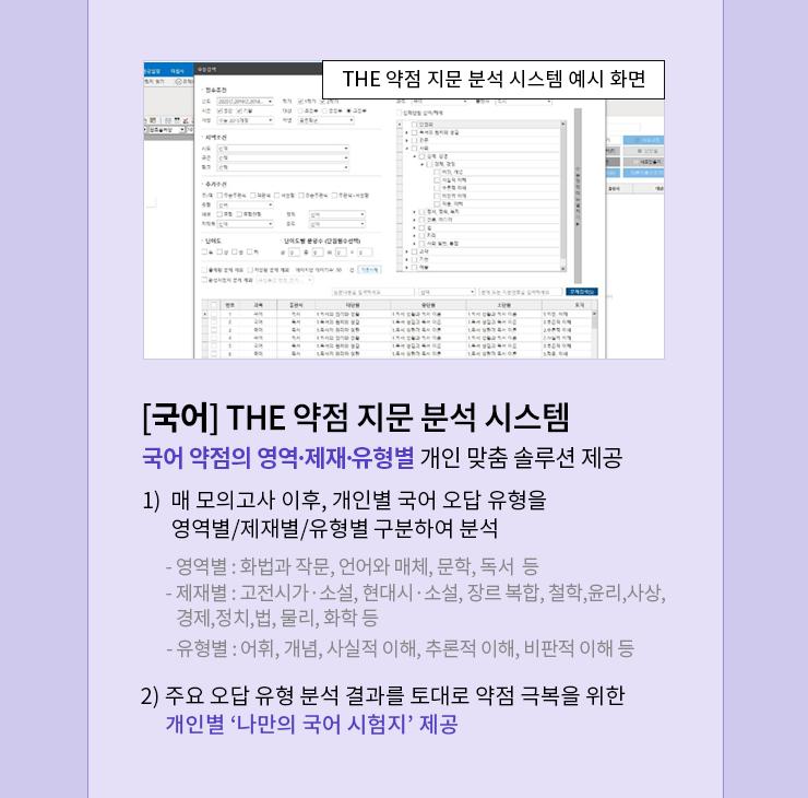 THE 약점 지문 분석 시스템